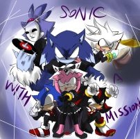 SONIC WITH A MISSION by GaruGiroSonicShadow