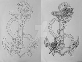 Anchor tattoo design by ThereseDrawings