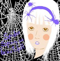spiders on the head by LouBerry
