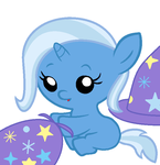 Baby Trixie Hatless and Capeless by Beavernator