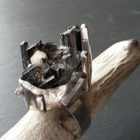 Black Tourmaline ring by Jealousydesign