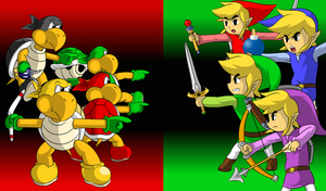 Koopa Bros VS The Links by faren916