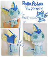 Poka Vaporeon Plush by scilk