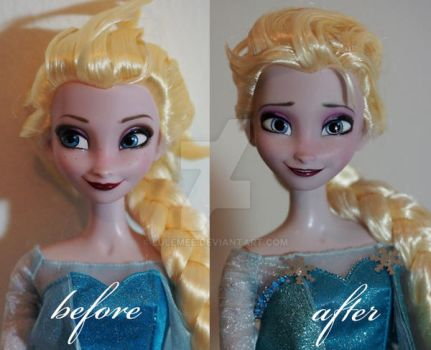 Singing Elsa OOAK doll by lulemee