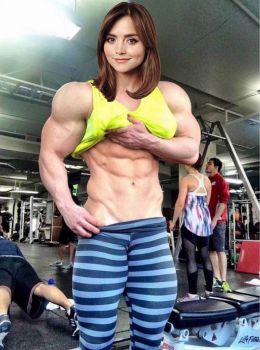 Jenna Coleman Muscle Morph by Turbo99