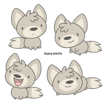 Baby Wolf by Daieny