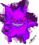 Gengar -colored- by FuneraLOfHeartS0