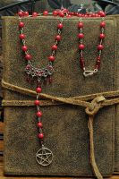 Blood Oath Pagan Rosary by Lindowyn