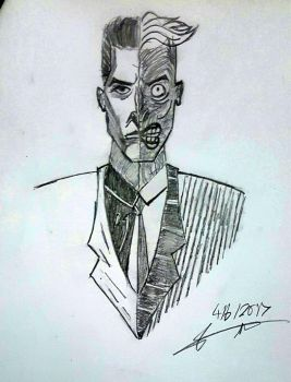 Harvey Dent two-face by Zero-Max
