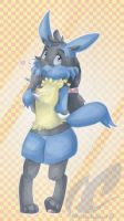 Cleo Lucario by mmishee