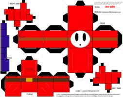 Shy Guy Cubee by theredone1986
