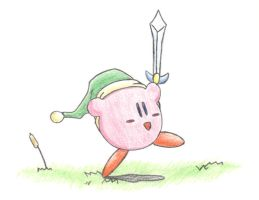 Pastel Sword Kirby by Hoshi-no-Kaabii