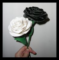 Black and White DT Roses by DuckTapeBandit