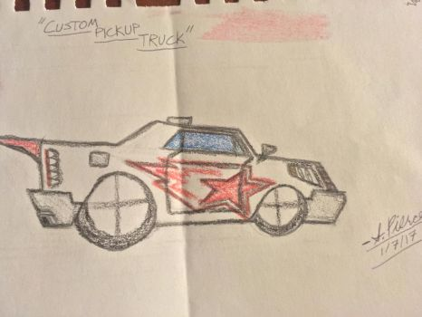 Overdrive Concept Cars -- Custom Pickup Truck by MephilesTheDark2182