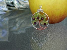 Apple Tree Pendant with Apple by magpie-poet