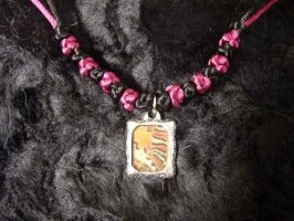 Lacewing butterfly necklace by Saurou