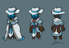 Spiral Knights - Snowdusk Character Concept by snowcube94