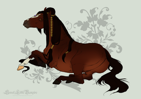 Horse Design for DatNachtmaehre (new breed?) by SweetLittleVampire