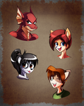Anthro Head Practice by Isenrod