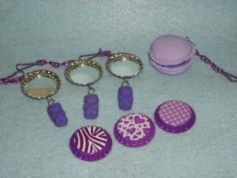 Purple Mirror Key Chains by TashaAkaTachi