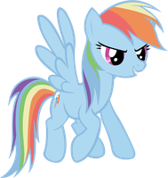 Rainbow Dash Vector by LilCinnamon