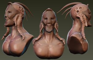 Masked alien humanoid by Redecorator