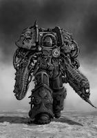 Chaos space Marine Oblitterator by Jutami
