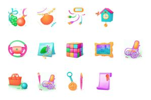 Icons for Gifts Shop by AnnaLitvinuk