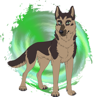 Pastor the German Shepherd Dog by Zerwolf