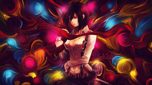 Mikasa [ Smudge ] Wallpaper by xChassie