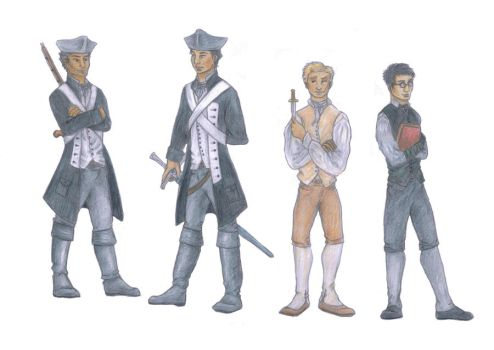 The Boys Lineup by annelune
