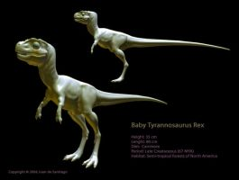 3D Baby T-Rex by Red-Dilopho