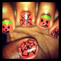 Halloween nails by sweetangel561