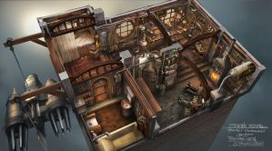 Steampunk Interior by FerdinandLadera