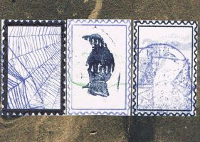 three stamps by KatDiestel