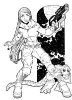 Space Girl by PORTELA
