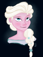 Queen Elsa by mustachecat11