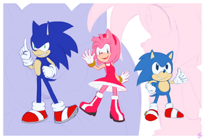C.Sonic_Amy_M.Sonic :wallpaper: by Mitzy-Chan