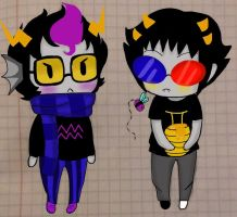 Chibi Eridan and Sollux [FINISHED] by Jany-chan17