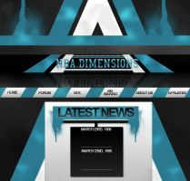 NBA Dimensions Web Design by TheTyx