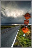 Caution, Road to No Ends. by Fungamania