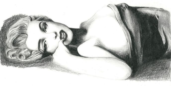 Marilyn Monroe reclining by Macca4ever