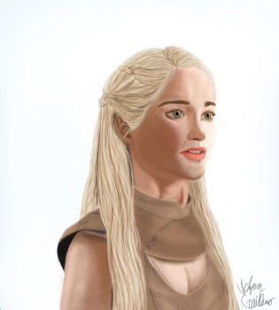 Daenerys - Mother Of Dragons by VictorGuillermoArt