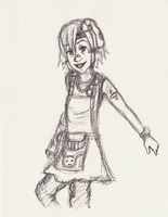 Tiny Tina Sketch by Marlin-Rae