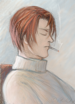 with cigarette by olgamoncher