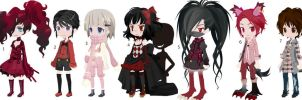 Red adopts, OPEN. 1/7 left! by xXxPorcelainxXx