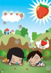 Extreme Strawberry Eaters by podgypanda