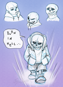 Day9:  Sans by AbsoluteDream