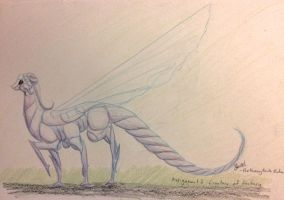 Butterfly dragon standing by BeeTrue