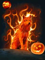 HALLOWEEN FLAMED WOLF by Aim4Beauty